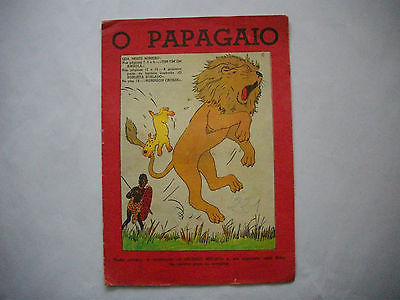 RARE - 1939 - Tintin au Congo - Papagaio #221 - First Time Colored - Portuguese