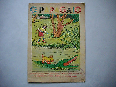 RARE - 1939 - Tintin au Congo - Papagaio #215 - First Time Colored - Portuguese