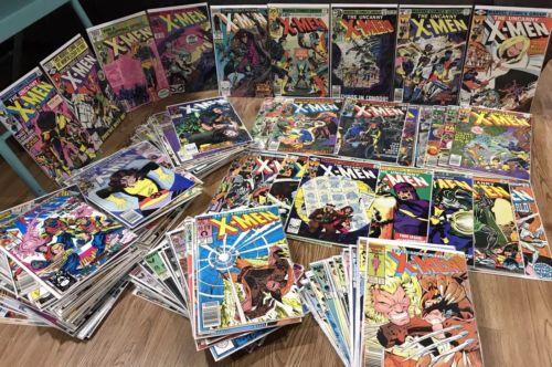 Uncanny X-Men 133 Comic book Lot 100+ 266 1st gambit Days Of Future Past Jim Lee