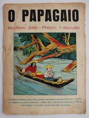RARE Portuguese Vintage Comics Magazine O PAPAGAIO #246 1939 TINTIN HERGE