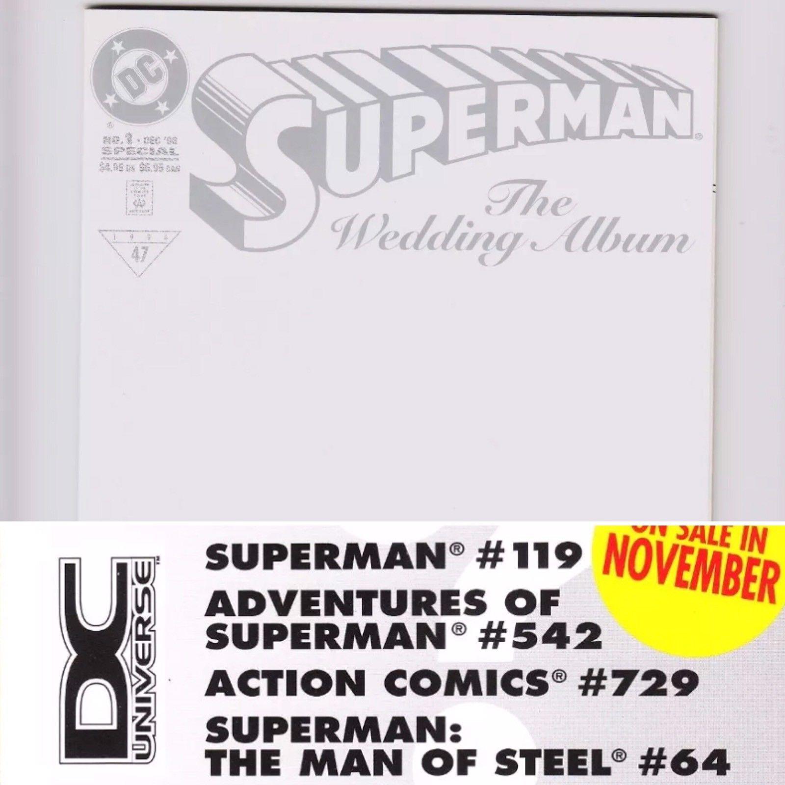 Superman The Wedding Album #1 *SUPER RARE* EMBOSSED DCU DC Universe variant NM+