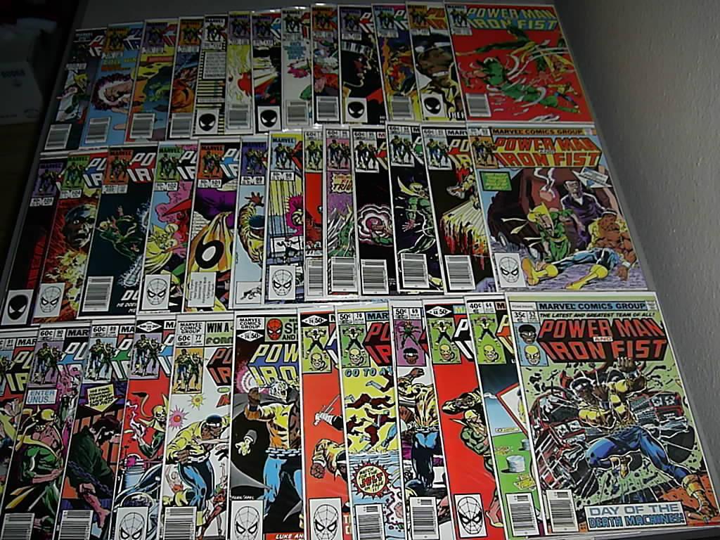 Power Man Iron Fist 38 book Lot 52-64-68-69-70-74-76-77-79-89-90-99-101-104-125