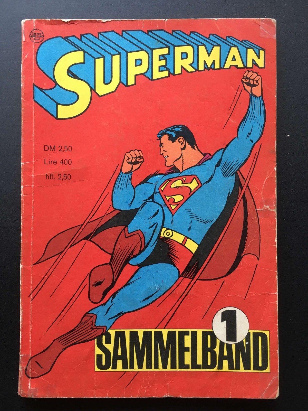 SUPERMAN SAMMELBAND NR. 1 *SUPERMAN HEFT 1, 2, 3, 4* EHAPA 1966 Z3+
