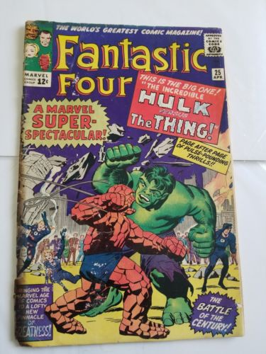 Fantastic Four #25 Hulk vs Thing affordable key. $3.99 unlimited shipping.