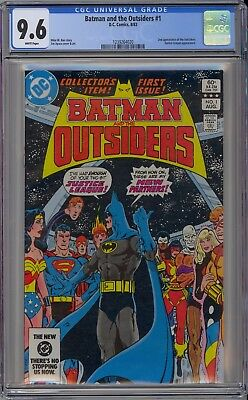 Batman and the Outsiders #1 CGC 9.6 NM+ Wp 2nd Outsiders JLA App DC Comics 1983