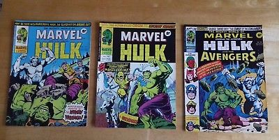Mighty World of Marvel 197, 198, 199 Marvel Comics UK 1976 First Wolverine 181