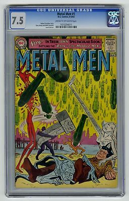 Metal Men #1 CGC 7.5 HIGH GRADE DC Comic KEY PREMIERE Issue VITNAGE Silver 12c