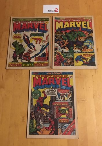 The Mighty World Of Marvel # 1 - 3 (1972 UK)
