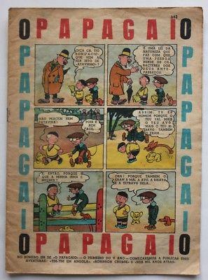 RARE Portuguese Vintage Comics Magazine O PAPAGAIO #207 1939 TINTIN HERGE