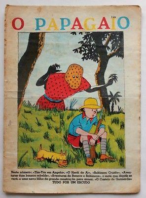 RARE Portuguese Vintage Comics Magazine O PAPAGAIO #226 1939 TINTIN HERGE