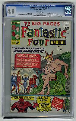 Fantastic Four Annual #1 CGC 4.0 ORIGINAL OWNER Marvel Comic KEY 1st Atlantis