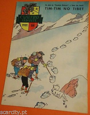 HERGÉ - ALTES TIM UND STRUPPI in Tibet PORTUGAL COVER 'Journal de TINTIN' 1961