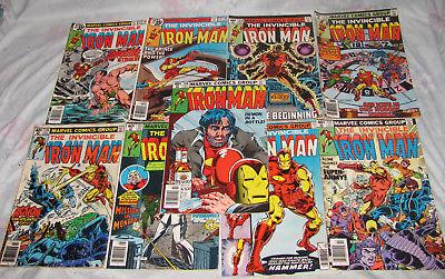 1978 Vtg Iron Man Comic lot Demon in a Bottle Full run 9 Issues 120 to 128