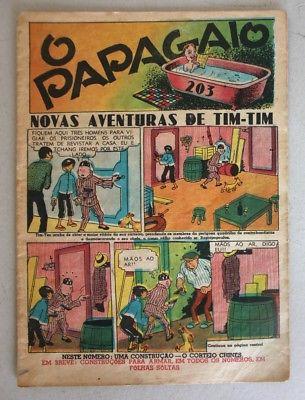 RARE Portuguese Vintage Comics Magazine O PAPAGAIO #203 1939 TINTIN HERGE