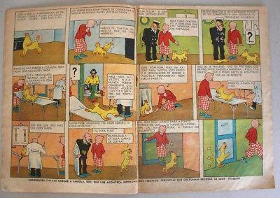 RARE Portuguese Vintage Comics Magazine O PAPAGAIO #210 1939 TINTIN HERGE Angola