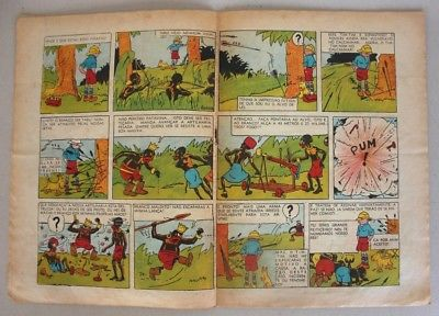 RARE Portuguese Vintage Comics Magazine O PAPAGAIO #225 1939 TINTIN HERGE Angola