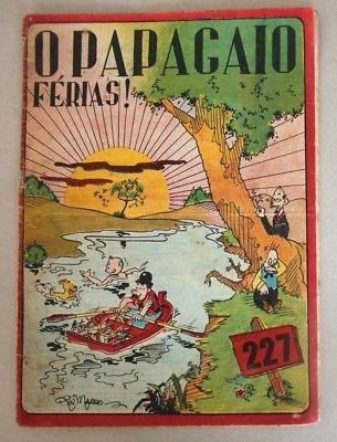 RARE Portuguese Vintage Comics Magazine O PAPAGAIO #227 1939 TINTIN HERGE Angola