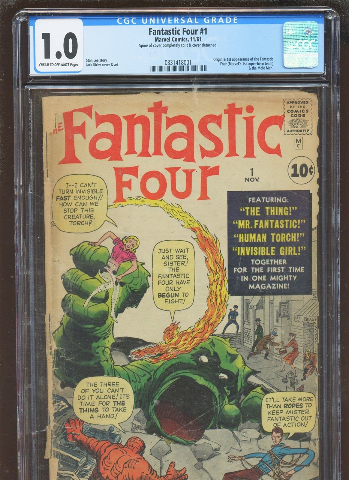 Fantastic Four 1 CGC 1.0 FR | MARVEL 1961 | 1st & Origin Fantastic Four