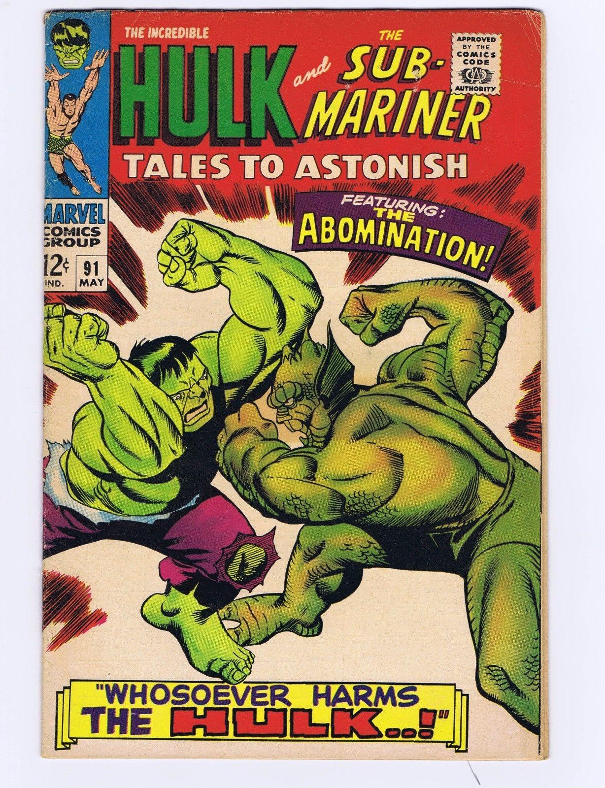 TALES TO ASTONISH SILVER AGE MARVEL LOT SUB-MARINER IRON MAN-HULK 82-101