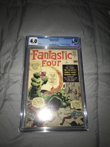 Fantastic Four #1 Cgc 4.0 Nov 1961, Marvel)
