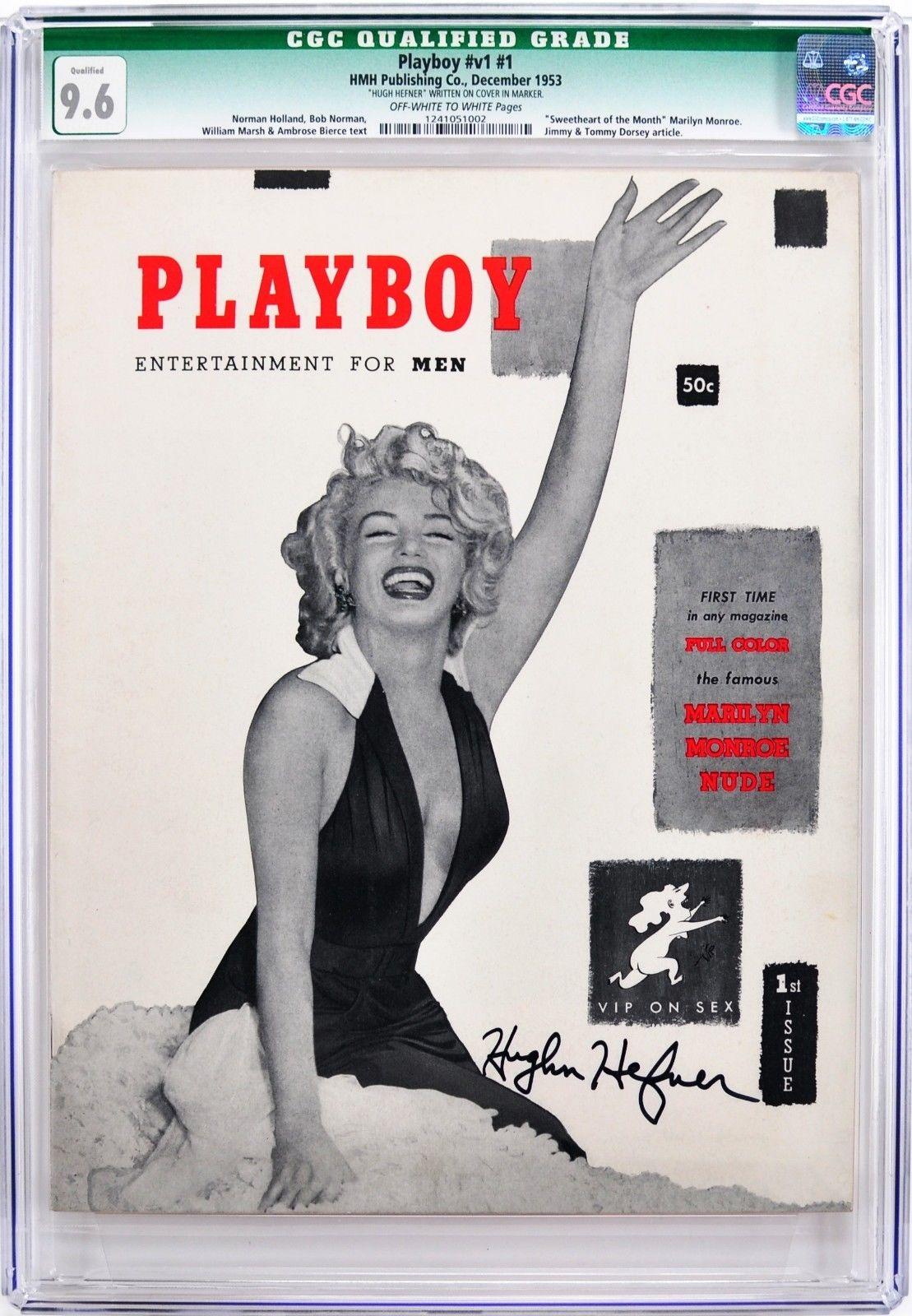 Playboy December 1953 | CGC 9.6 Near Mint + | Signed by Hugh Hefner | JSA LOA