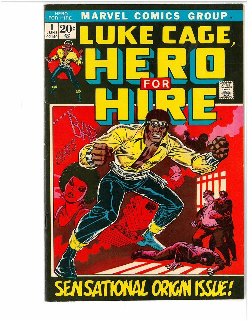LUKE CAGE, Hero For Hire NUMBER 1 ISSUE Rare 1972 Marvel Comics: Great Condition