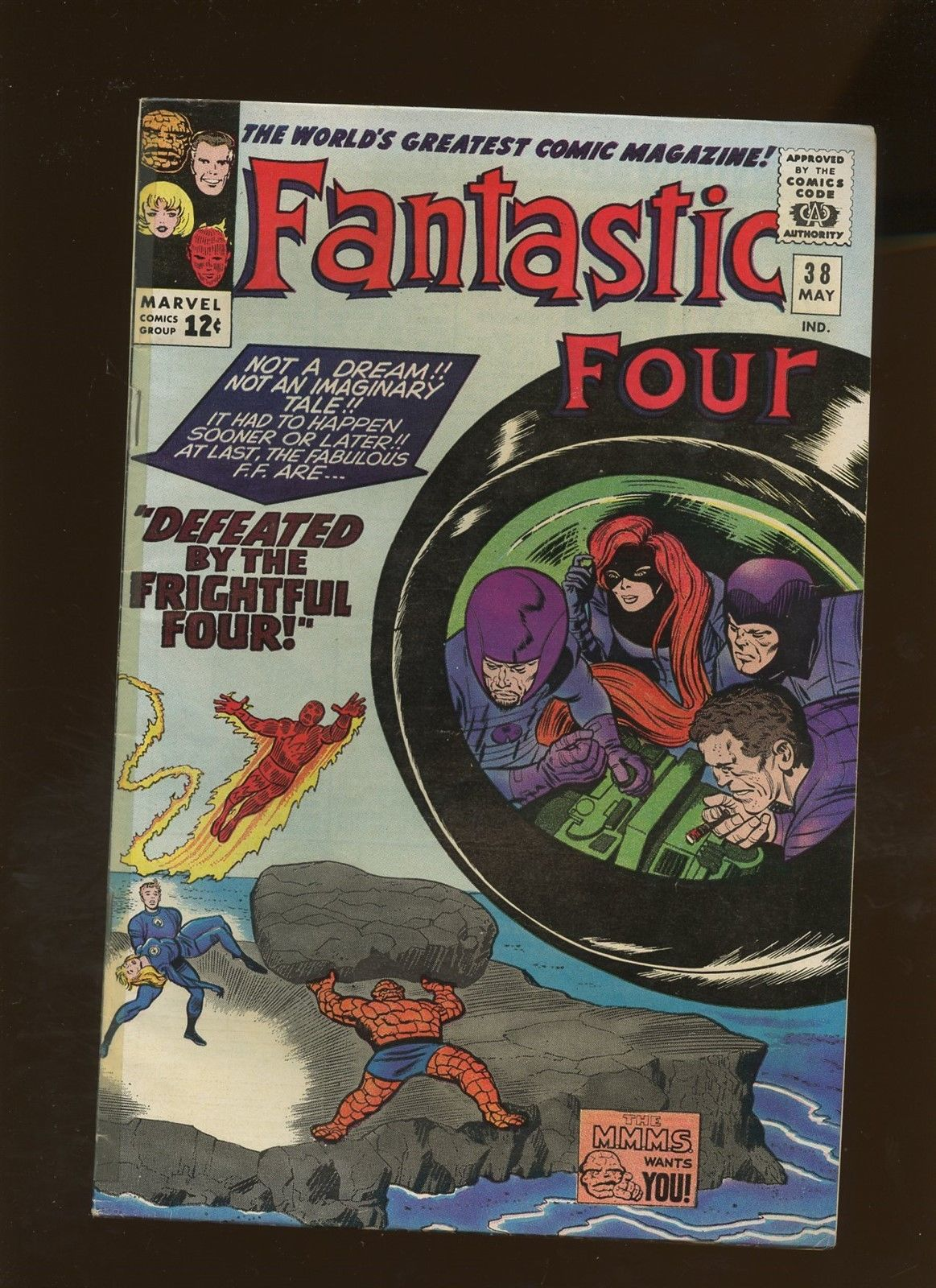 Fantastic Four 38 VG 4.0 *1 Book* Defeated by the Frightful Four by Lee & Kirby