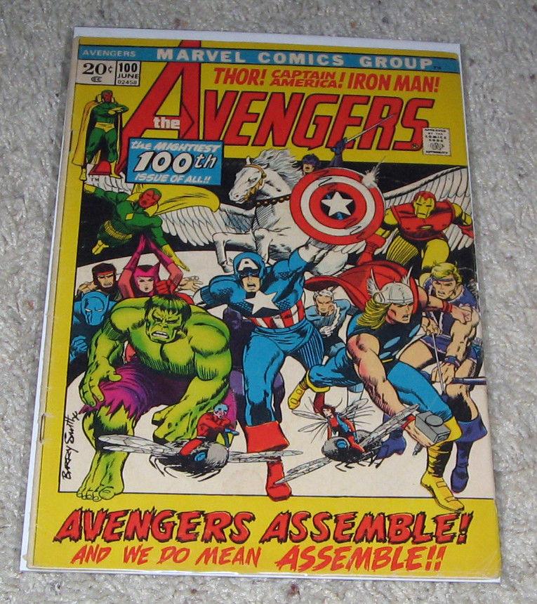 Avengers 100 Barry Smith Art  Thor Iron man Hulk Hawkeye Infinity War HG  Lot