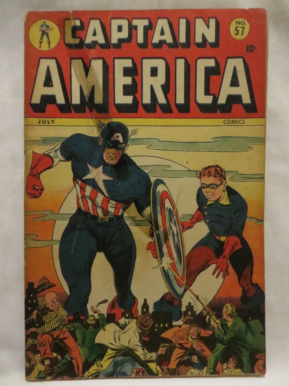 1946 CAPTAIN AMERICA COMICS..NO.57..TIMELY..MARVEL..RAW CLASSIC GOLDEN-AGE