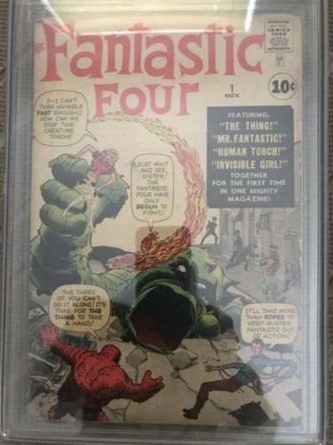 Fantastic Four #1  CGG 3.5 Marvel 1961 1st appearance of the fantastic four