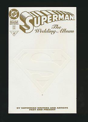 SUPERMAN THE WEDDING ALBUM #1 GOLD RARE 250 MADE RRP JURGENS SIGNED HIGH GRADE
