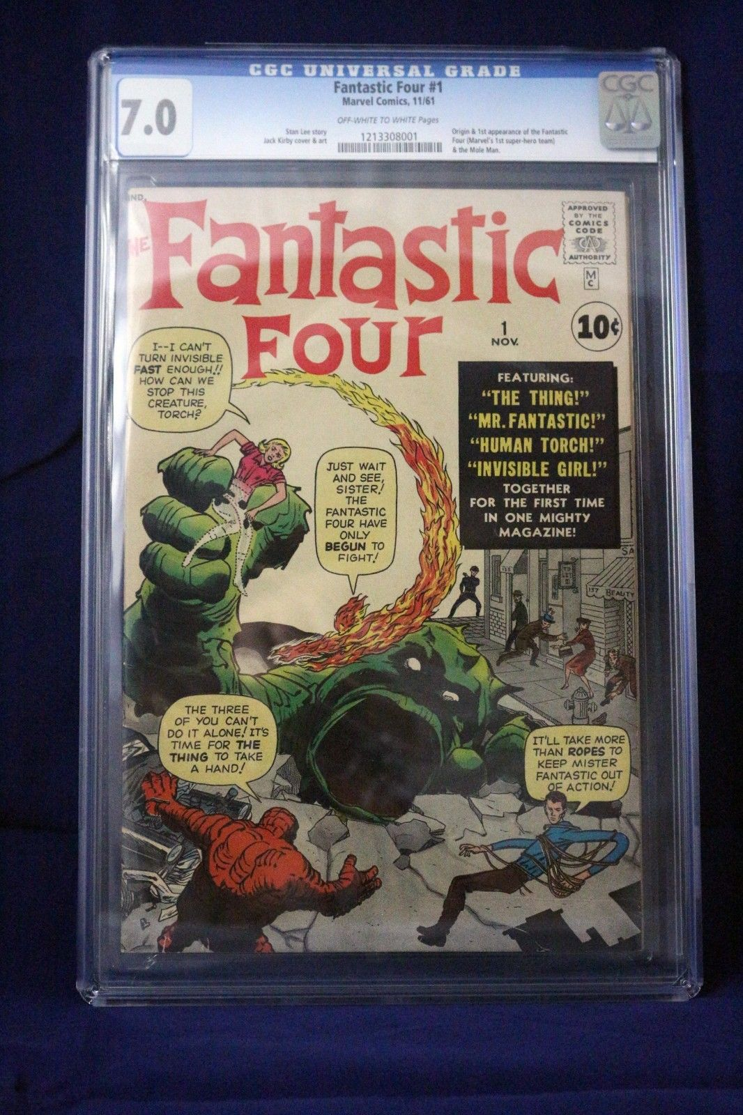 Fantastic Four #1  CGG 7.0 Marvel 1961 1st appearance of the fantastic four