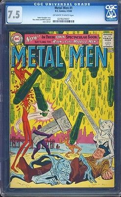 Metal Men 1 CGC 7.5 OW/W Silver Age Key DC Comic 1st Issue L K IGKC
