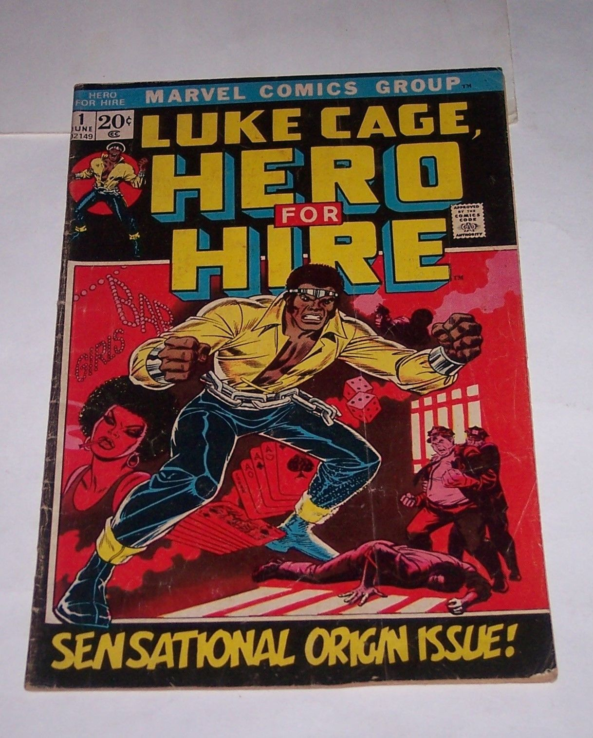 Luke Cage Hero for Hire #1  First Issue  First appearance Marvel  Origin