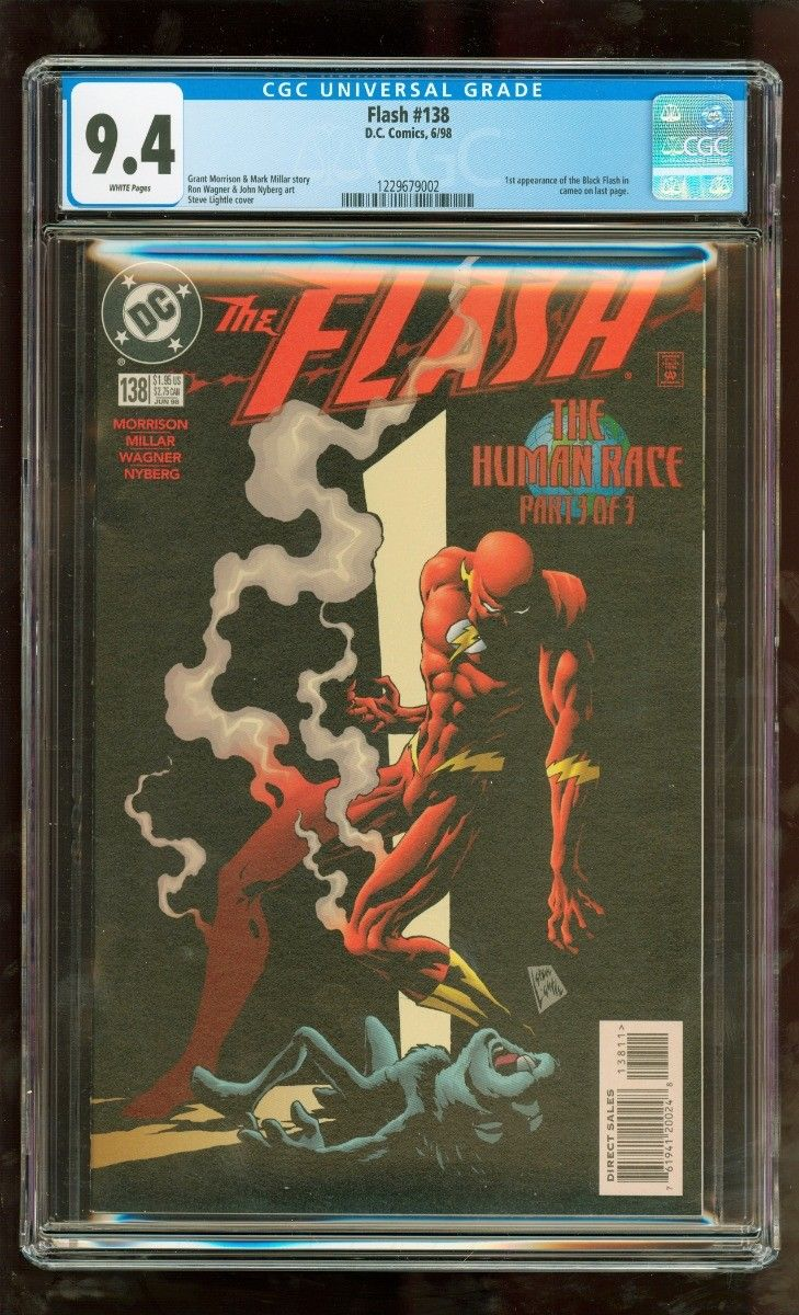 CGC 9.4 FLASH #138 D.C. COMICS 6/1998 1ST APPEARANCE OF THE BLACK FLASH IN CAMEO