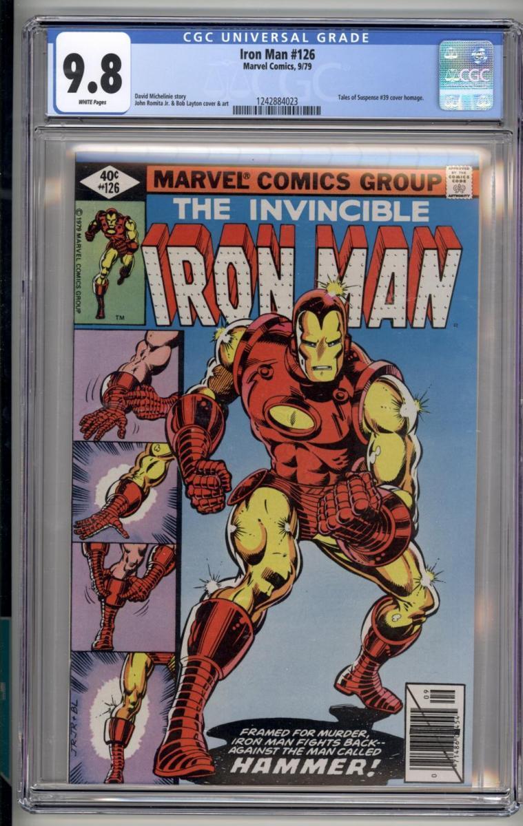 Invincible Iron Man 126 - Classic Layton Cover - CGC 9.8 White