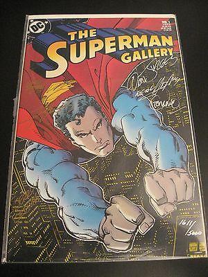 SUPERMAN GALLERY 1 SIGNED/COA 1611/5000 Adams Steranko Perez Swan, 6 Autographs
