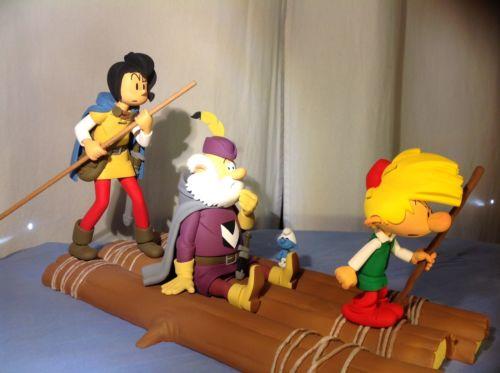 Radeau Schtroumpfs Pays Maudit Fariboles No Pixi Schleich Tintin Leblon