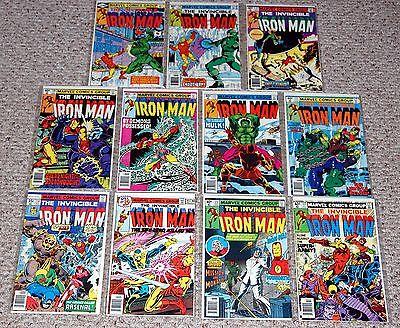 IRON MAN 114 117 125 127 129 130 131 132 135 136 137 Marvel Bronze Age Comic Lot