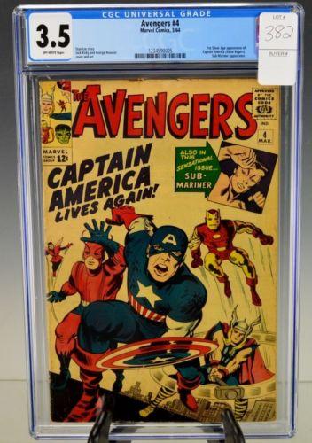 Avengers #4-1964 CGC 3.5 Lot 382