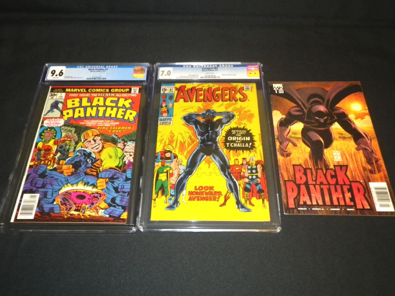 Black Panther #1 • CGC 9.6 • Avengers #87 • CGC 7.0 • Black Panther #1 • 2011