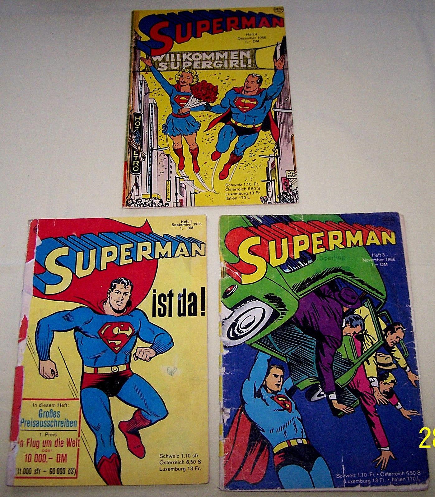 Superman Ehapa orig. 1966 - Nr. 1 + 3 + 4 aus Sammelband komplett - lesewürdig