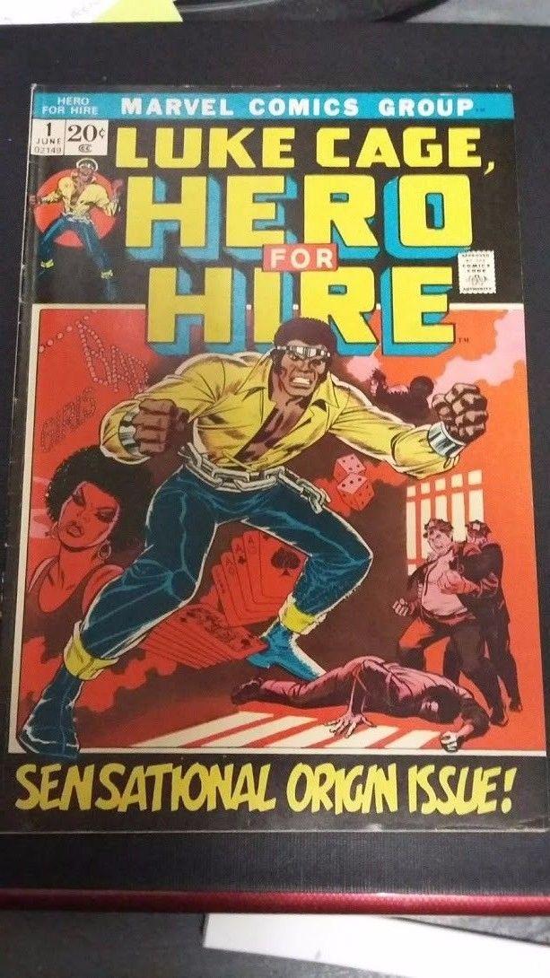 Hero for Hire #1 (Jun 1972, Marvel) Luke Cage Key Issue Higher Grade