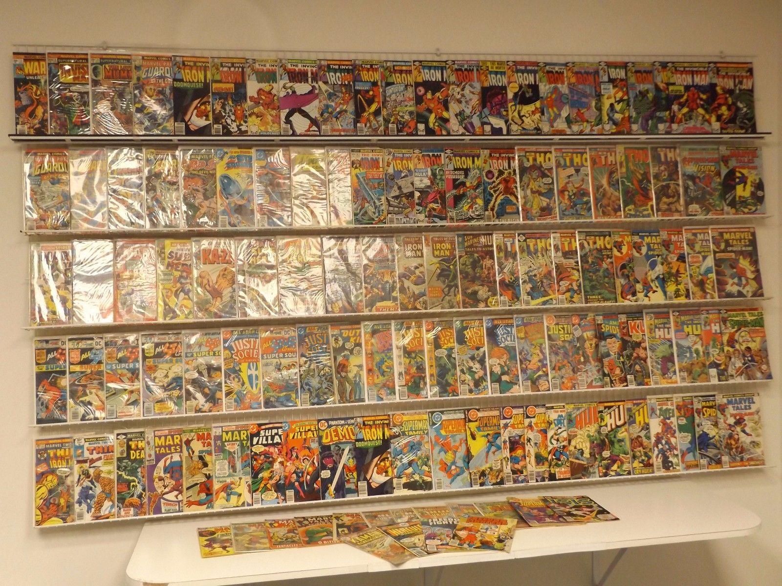 Huge Lot of 120 Silver/Bronze comics w/ Iron Man, Thor, Incredible Hulk & more