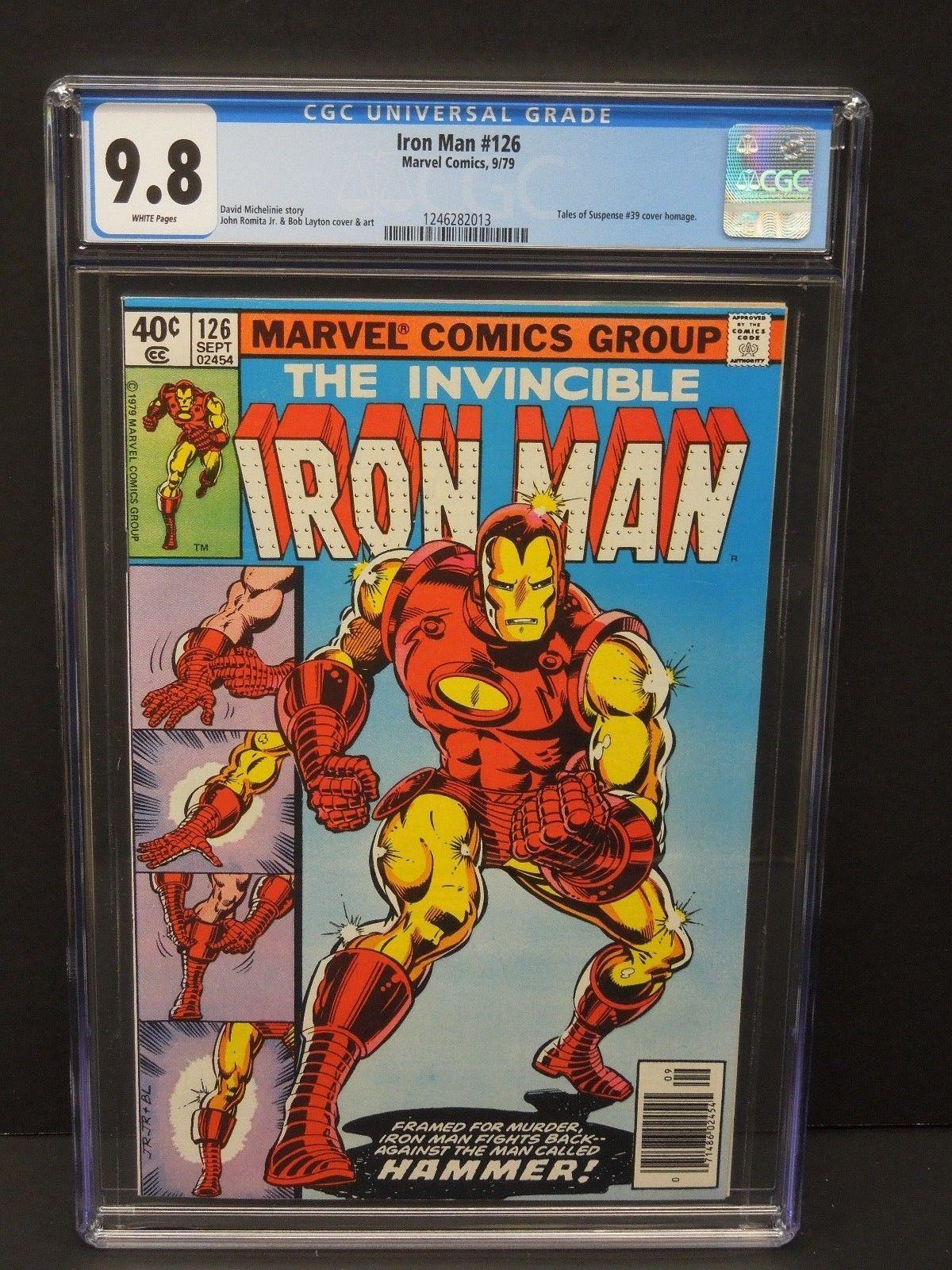 MARVEL COMICS IRON MAN #126 1979 CGC 9.8 TALES OF SUSPENSE #39 COVER HOMAGE