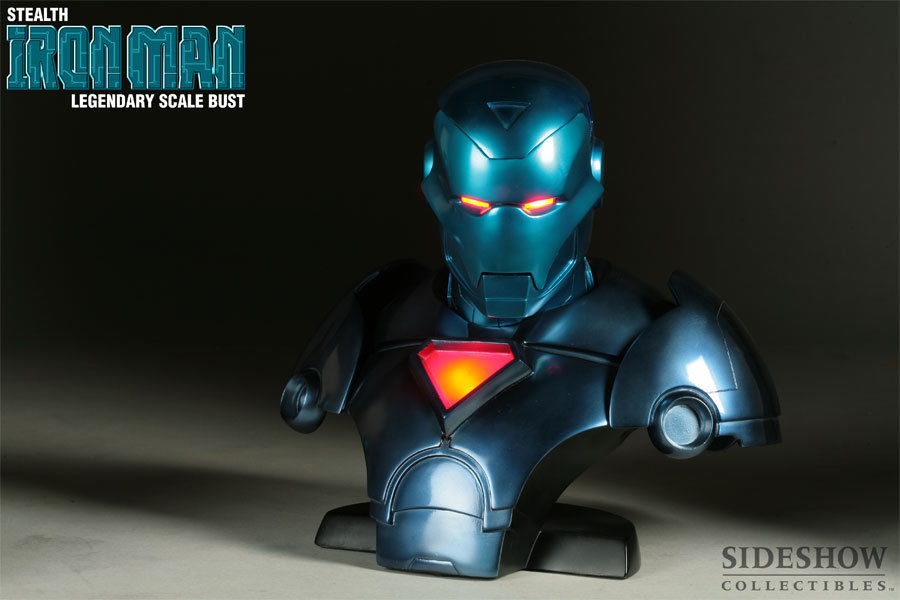 SIDESHOW STEALTH IRON MAN LEGENDARY SCALE BUST 126/1500
