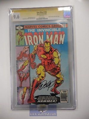 Iron Man #126 CGC 9.6 white pages SIGNED BY Bob Layton TOF #39 COVER SWIPE