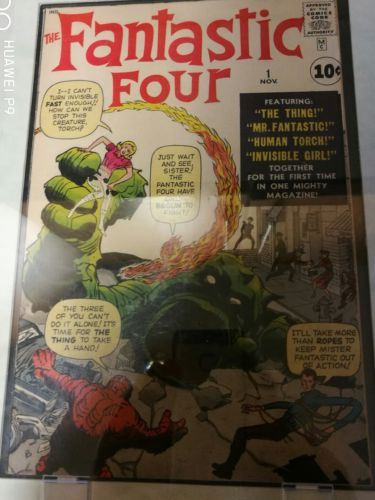 Fantastic Four # 1 S/Age - 1st App & Origin  of the Fantastic  Four - 1961 Marve