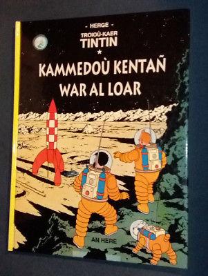 Tintin et Milou : On a marché sur la Lune en BRETON Hergé AN HERE
