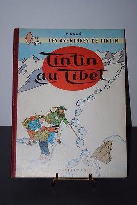 Hergé Album Tintin (Tim) in tibet EO 1960 Rückseite b29 in sehr gutem Zustand